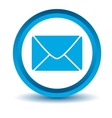 Blue mail icon vector
