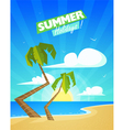 Summer cartoon background vector