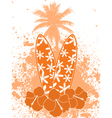 Tropical surfing background vector
