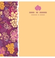 Sweet grape vines square torn border seamless vector