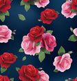 Elegant abstract seamless floral pattern with red vector