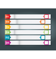 Set of numbered bookmarks stickers vector