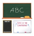 Chalkboards set isolated on white background vector