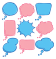Cute bubble speech vector