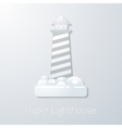 Travel paper lighthouse flat icon vector