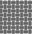 Black white seamless textile pattern vector