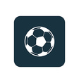Football ball icon rounded squares button vector