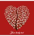 Vintage love tree vector