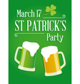 Happy st patricks day party poster invite vector