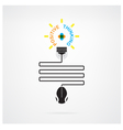 Creative light bulb idea and positive thinking vector