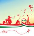Italian holidays background vector