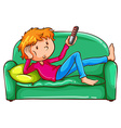 A coloured sketch of a lazy boy vector