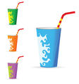 Glass set of color vector