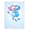 Snowman postcards 1 380 vector