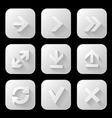Set of icons with long shadow vector