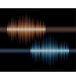 Blue and orange stereo waveform vector
