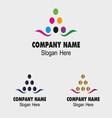 Cmyk logo sign color printer branding corporate lo vector