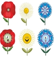 Funny flowers with different emotions 010 vector