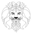 Stylized lion head3 vector