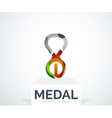 Abstract colorful logo design medal vector