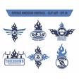 American football label sticker vector