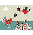 Social media birds communication vector
