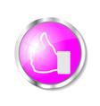 Pink web button vector