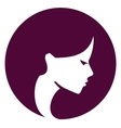 Beautiful girl logo design template spa or vector