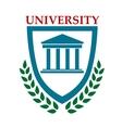 University emblem with laurel wreath vector