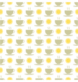 Seamless pattern of tea and lemons vector