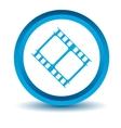 Blue movie icon vector