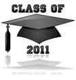 Class of 2011 graduation vector