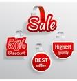 Sale wobbler set vector