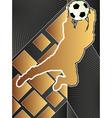 Sport poster series soccer vector