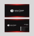 Creative business card with black background vector