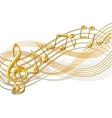 Musical notes staff background on white vector