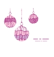 Pink ruffle fabric stripes christmas ornaments vector