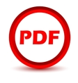 Red pdf icon vector
