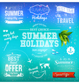 Summer design set of typographic labels for summer vector