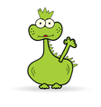 Funny dinosaur color vector