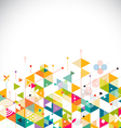 Abstract colorful and creative geometrical vector