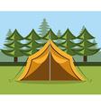Camping design vector