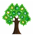 Green resources concept tree vector