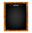 Restaurant menu wood board vector