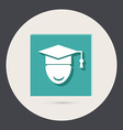 Graduate hat avatar vector