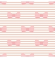 Seamless pastel pink bows decoration wallpaper vector
