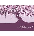 Vintage violet tree vector