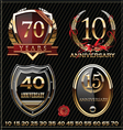 Anniversary golden labels vector