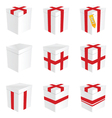 Gift box in white color vector