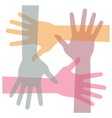 United hands vector